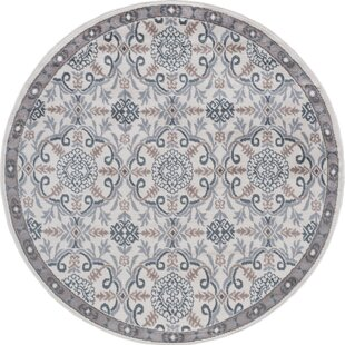Hoban Traditional Brocade Cream Area Rug by Charlton Home