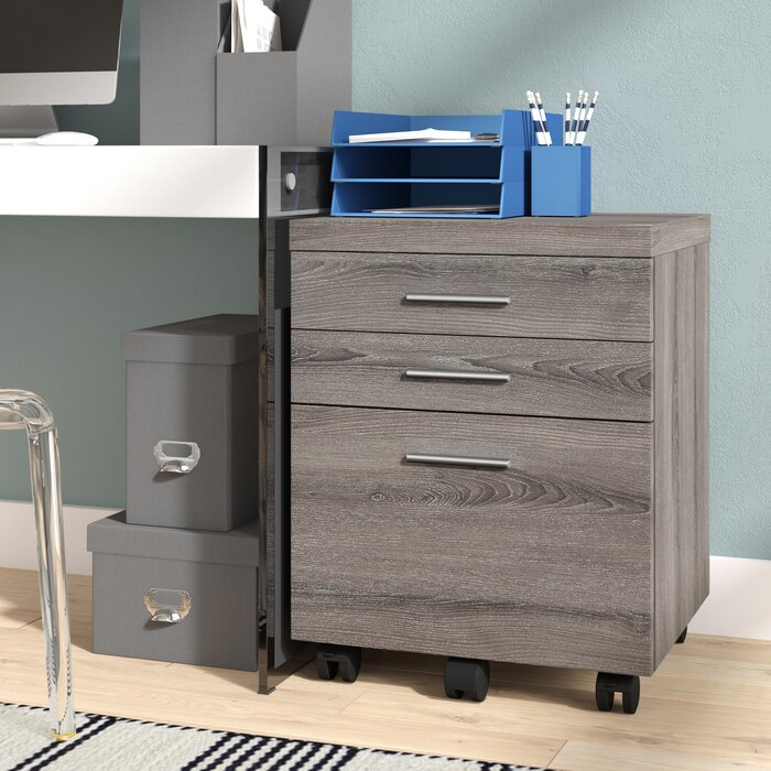 Barnaton 3 Drawer Mobile Vertical Filing Cabinet