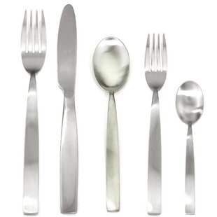 Mediterranea Ice 5 Piece 18/10 Stainless Steel Flatware Set, Service for 1