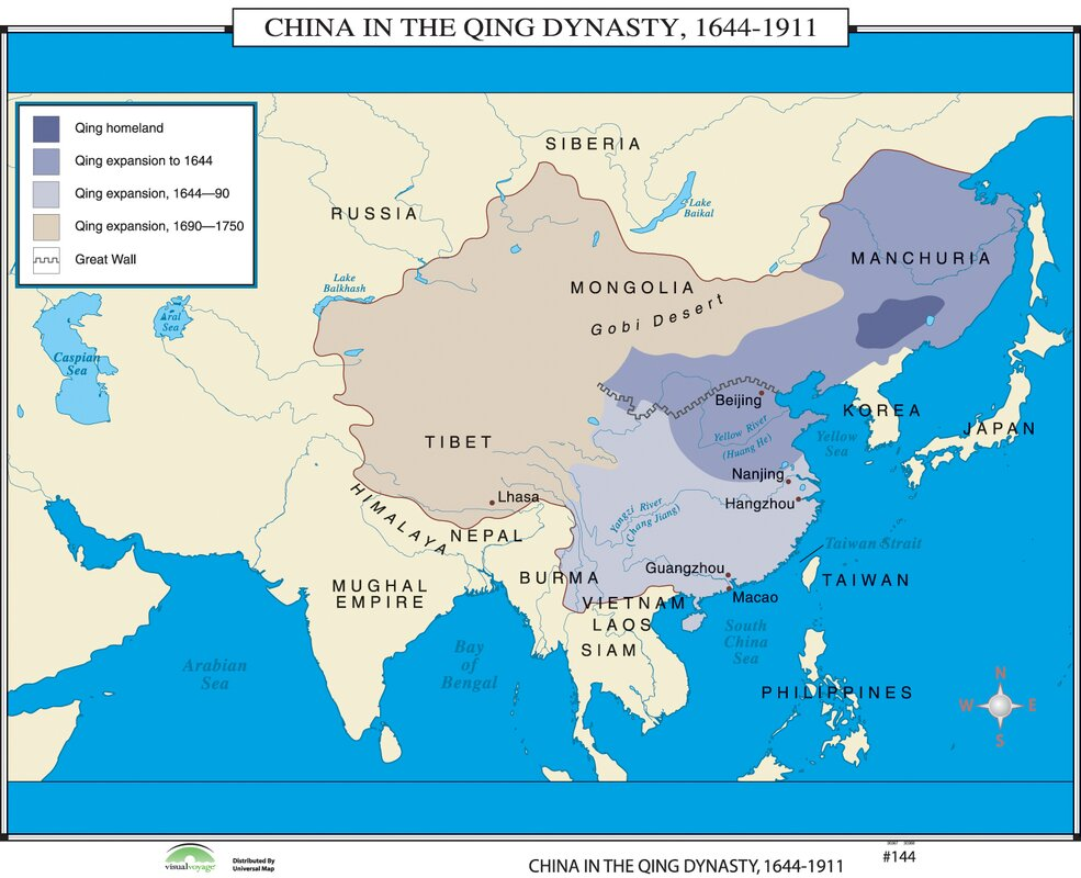 Universal map world history wall maps china in qing dynasty world history wall maps china in qing dynasty gumiabroncs Gallery