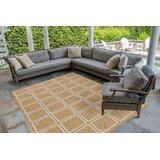 Hamm Squares Beige Indoor/Outdoor Area Rug