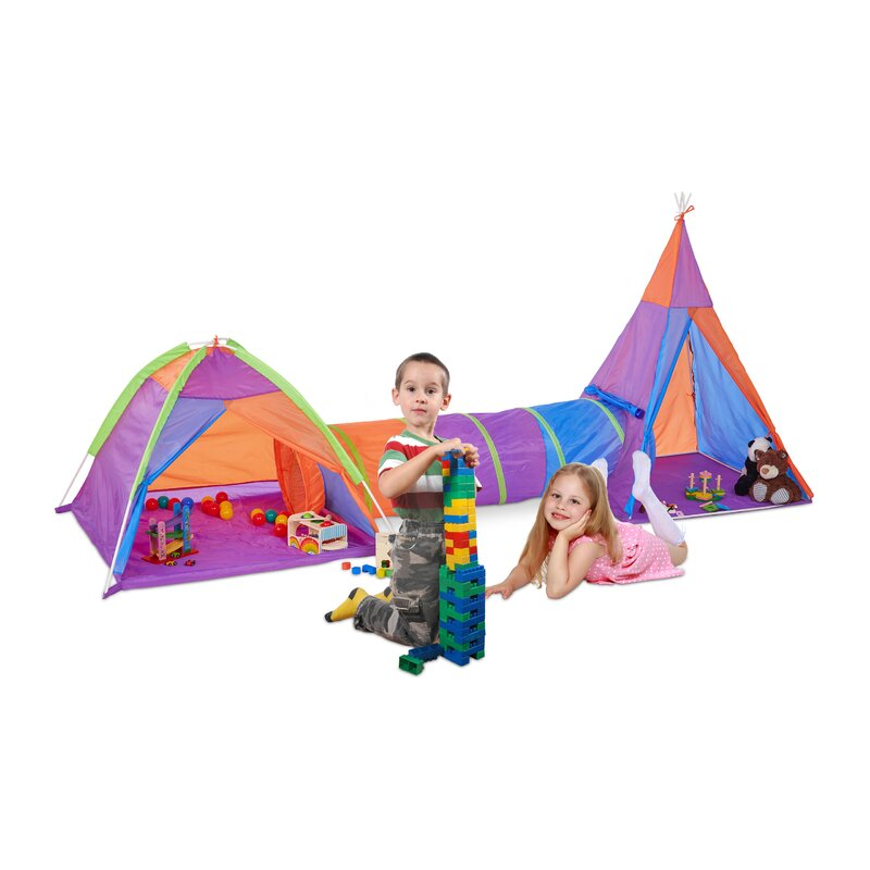 sc 1 st  Wayfair & Zoomie Kids Clementine 3 Piece Play Tent Set   Wayfair.co.uk