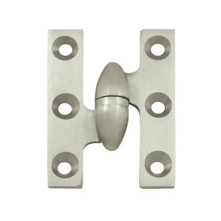 2 H x 1.5 W Butt/Ball Bearing Single Door Face Mount Hinge by Deltana