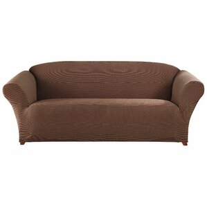 Honeycomb Box Cushion Sofa Slipcover by Sure..