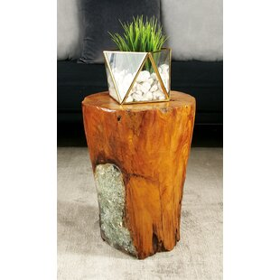 Cole & Grey Wood Teak and Resin Garden Stool