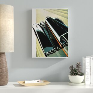 'Art Deco Auto' Graphic Art Print on Wrapped Canvas By Latitude Run
