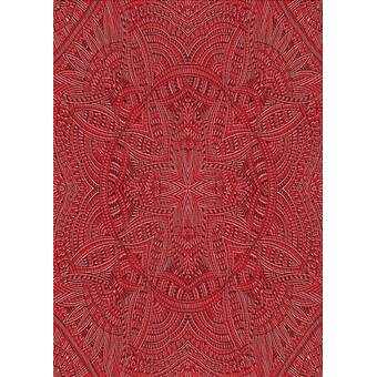 East Urban Home Mcguigan Floral Bats Blue Violet Red Area Rug Wayfair