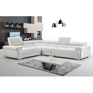 Bhagi Leather Reversible Modular Sectional