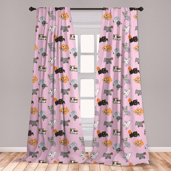 East Urban Home Cat Room Darkening Rod Pocket Curtain Panels Wayfair