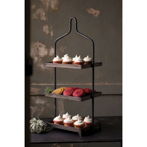 Surikova Square Metal 3 Tiered Standard Shelf b..