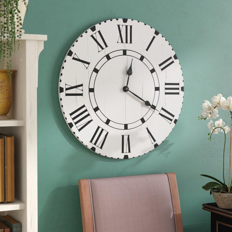 August Grove Oversized Egremont Wall Clock Wayfair