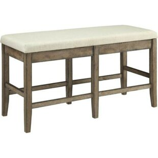Ophelia & Co. Barbara Upholstered Solid Wood Counter Height Bench