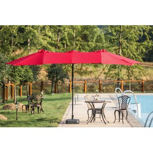 Eisele 9' W x 15' D Rectangular Market Umbrella by Breakwater Bay