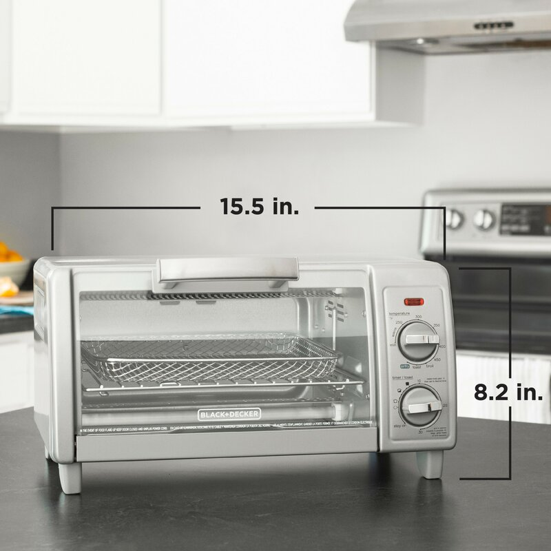 BLACK+DECKER 4-Slice Toaster Oven with Air Fry Technology TO1785SGC