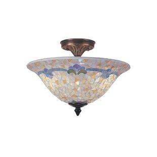 Weedman Modern Mosaic 3-Light Semi Flush Mount by Astoria Grand