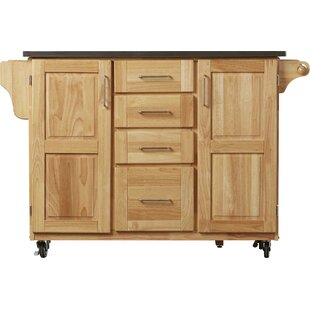 Kinch Kitchen Island With Stainless Steel Top
