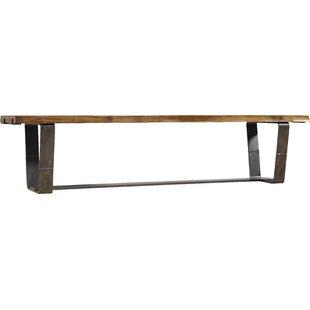 Hooker Furniture Live Edge Metal/Wood Bench