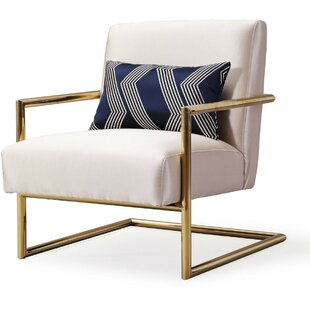 Artis Linen Armchair by Everly Quinn