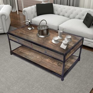 Michaels Coffee Table with Tray Top and Storage by Williston Forge