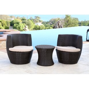 Mercury Row Jupiter 3 Piece Bistro Set with Cushion