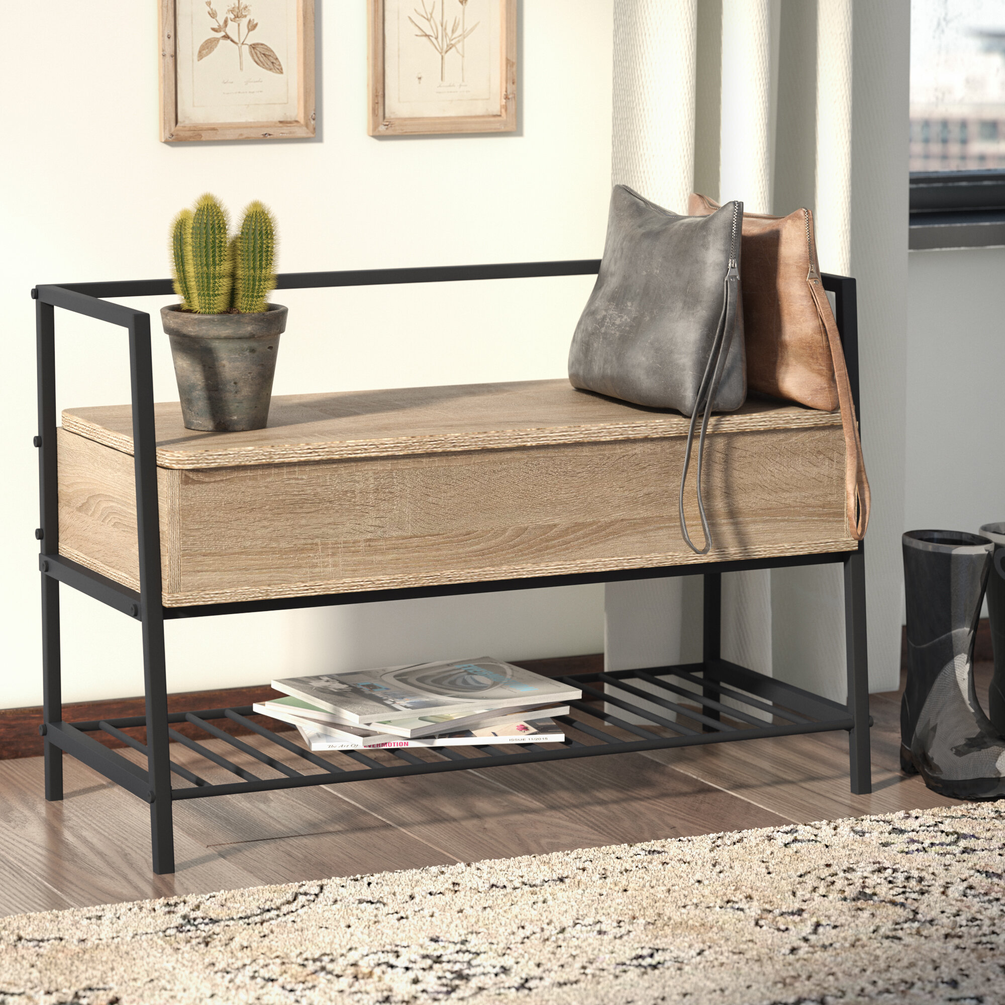 Laurel Foundry Modern Farmhouse Ermont Cubby Storage Bench Reviews Wayfair,Attractive Paint Color For Small Bedroom Walls