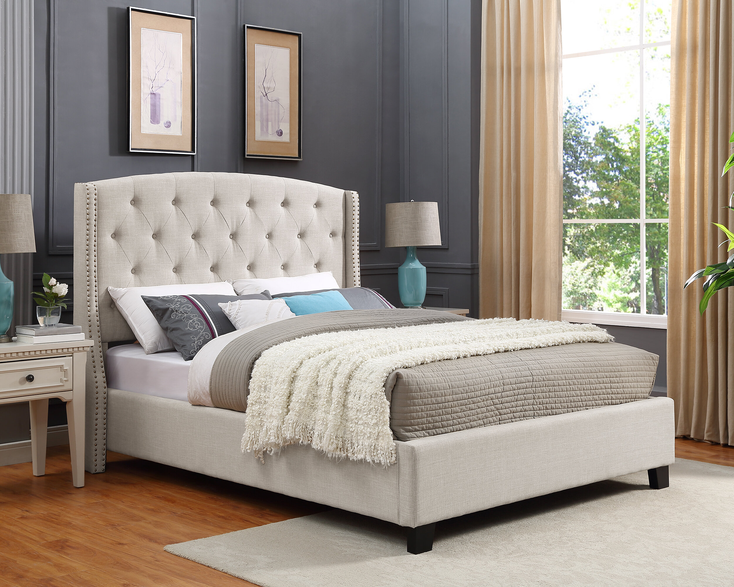 Darby Home Co Croce Tufted Upholstered Low Profile Standard Bed Reviews Wayfair