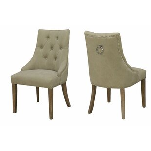 Alberta Nailhead Side Upholstered Dining Chair (Set of 2)