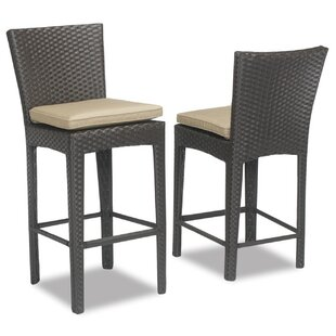 Aramingo Patio Bar Stool with Cushion Sunset West
