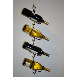 4 Bottle Wall Mounted Wine Rack by J & J ..