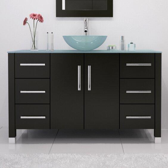 Single vessel sink bathroom vanities 48 Inch Wayfair Wrought Studio Fichter 47