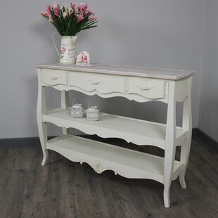 Deandra 3 Drawers And Shelves Console Table ...