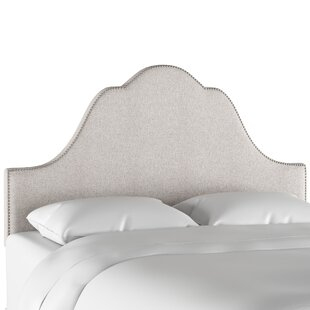 Vance Arch Nail Button Upholstered Panel Headboard by Everly Quinn