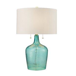 Fulk Hammered Glass LED 26 Table Lamp