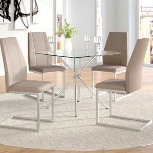 Perfect Eta Contemporary 5 Piece Table Set