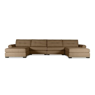 Excellent Cheap Orren Ellis Alden Leather Sectional Compare Prices Gmtry Best Dining Table And Chair Ideas Images Gmtryco