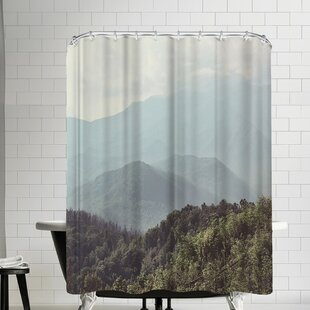 Mountain Shower Curtain Wayfair