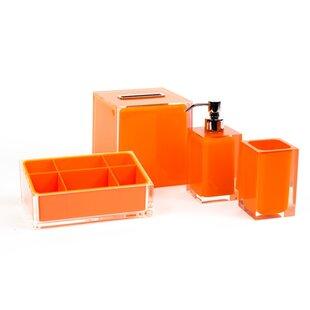 Ensembles d\'accessoires pour le bain: Finition - Orange | Wayfair.ca