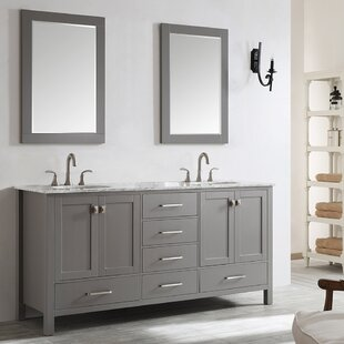 Read Reviews Newtown 72 Double Vanity Set with Mirror By Beachcrest Home
