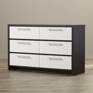 Langley Street Clarkedale 6 Drawer Double Dresser