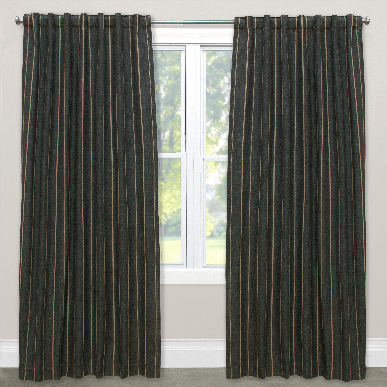 Winston Porter Murchison Unlined Striped Room Darkening Rod Pocket Single Curtain Panel Wayfair Ca