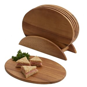 Jace 7 Piece Acacia Snack Cheese Board & Platter Set