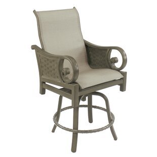 Leona Riviera Sling Swivel Patio Bar Stool
