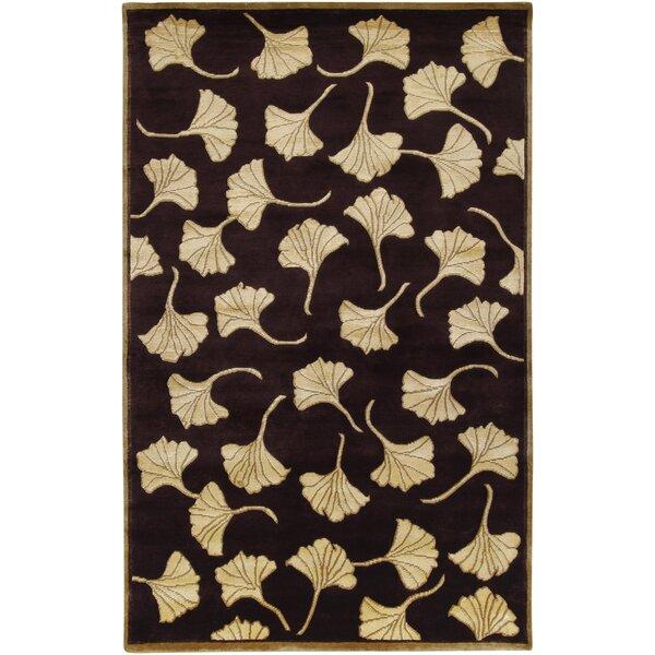Red Barrel Studio Jamaris Floral Hand Knotted Wool Brown Tan Area Rug Wayfair