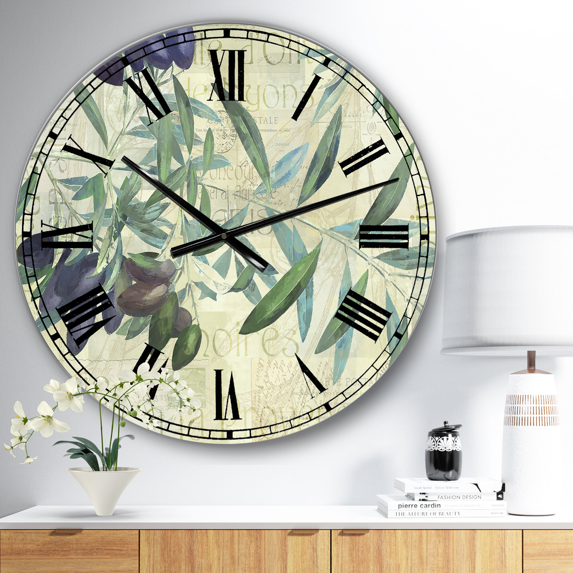 East Urban Home Oversized Olives De Nyons Wall Clock Wayfair