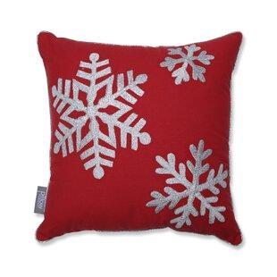 Falling Snowflakes Cotton Throw Pillow