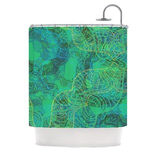 Mandala by Patternmuse Abstract Single Shower Curtain