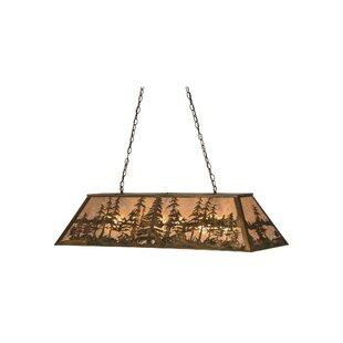 Meyda Tiffany Tall Pines 6-Light Pool Table Pendant