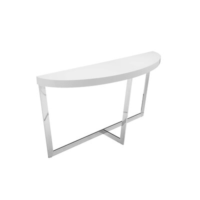 Brayden Studio Bank Street Console Table Color: White