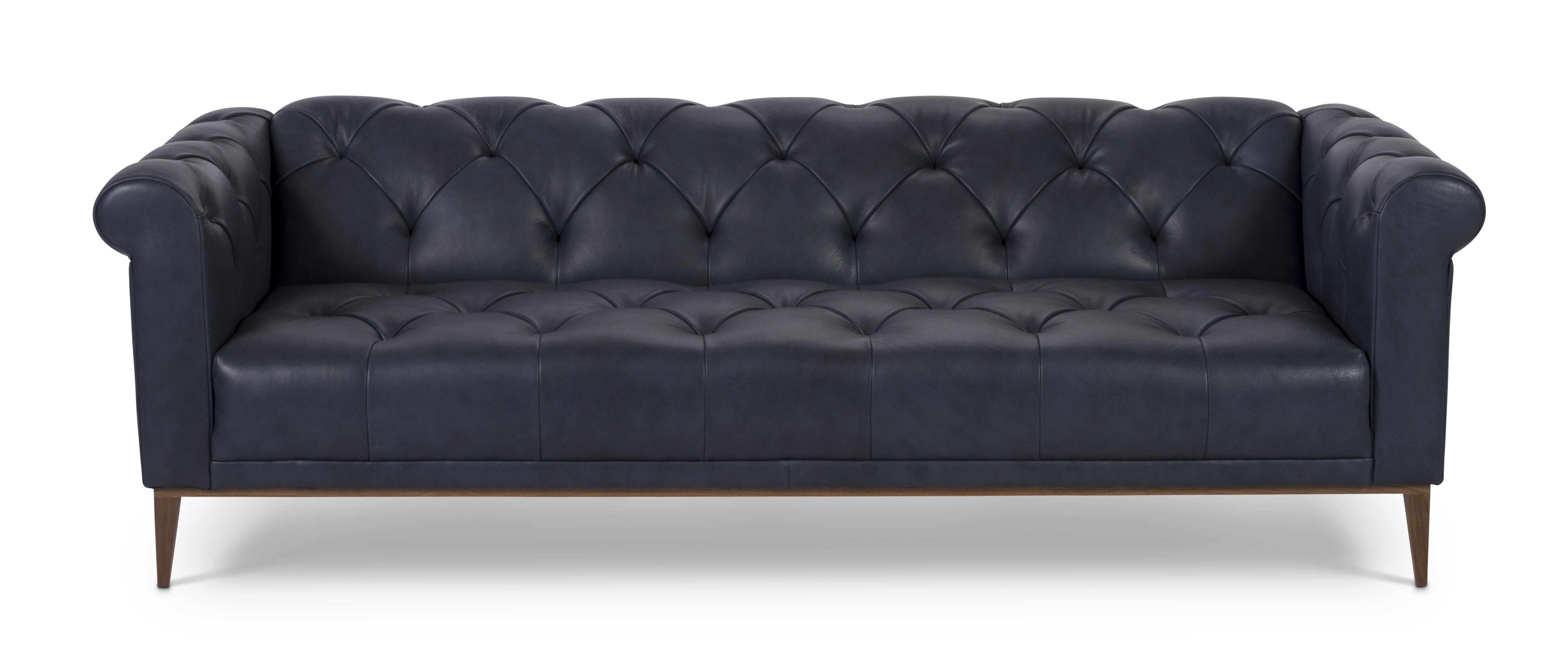 One For Victory Merritt Leather Chesterfield Sofa | Perigold