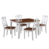 Leisa 5 Piece Solid Wood Dining Set by August Grove®